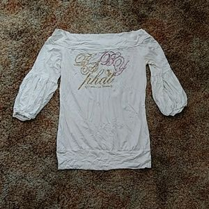 Baby phat white off shoulder blouse size M